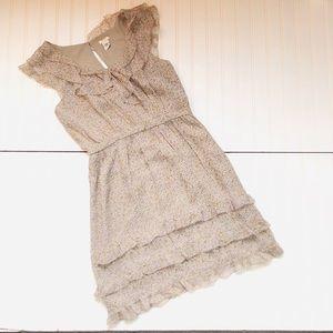 J. Crew Lucinda Letour Silk Floral Ruffle Dress